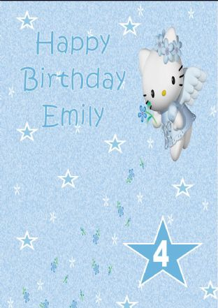 Personalised Hello Kitty Birthday Card Design 3
